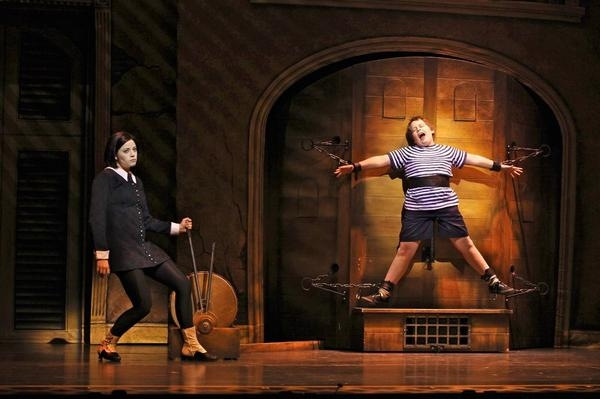 "Cortney Wolfson as Wednesday and Patrick D. Kennedy as Pugsley in ""The Addams Family."" (Jeremy Daniel)"